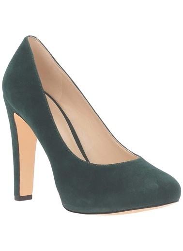 Nine West Deri Stiletto Ayakkabı Yeşil
